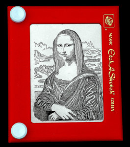 Mona Lisa Etch-A-Sketch