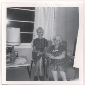 Aggie Thomas Jeffords, Florrie Thomas Martin sisters 1963 cropped