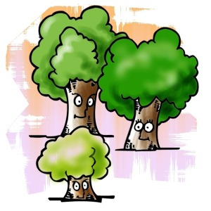 Family of trees clipart