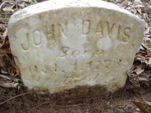 John Davis headstone-1