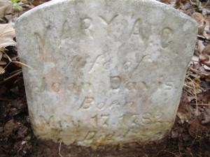 Mary A C Davis headstone-2