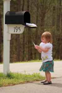 Little Girl at mailbox