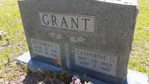 GRANT Zechariah and Catherine headstone