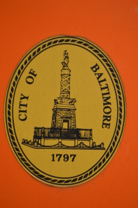 City of Baltimore sign