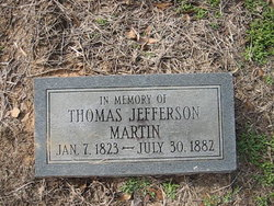 MARTIN Thomas Jefferson gravestone