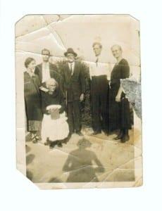 Mattie Grant Lyles,Zack Grant,Arthur Grant,Jesse Grant,Margaret Ann Grant Thomas, sitting Flora Ann Griffin Grant