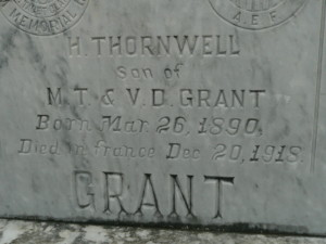died in France