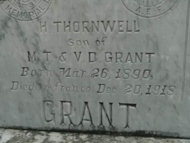 52 Ancestors Week 36 – Thornwell Grant, war casualty