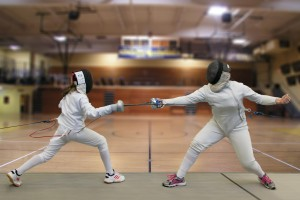 People fencing