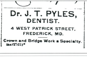 PYLES Joseph Thomas Sr Newspaper Ad from The News