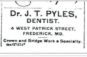 PYLES Joseph Thomas Sr Newspaper Ad from The News