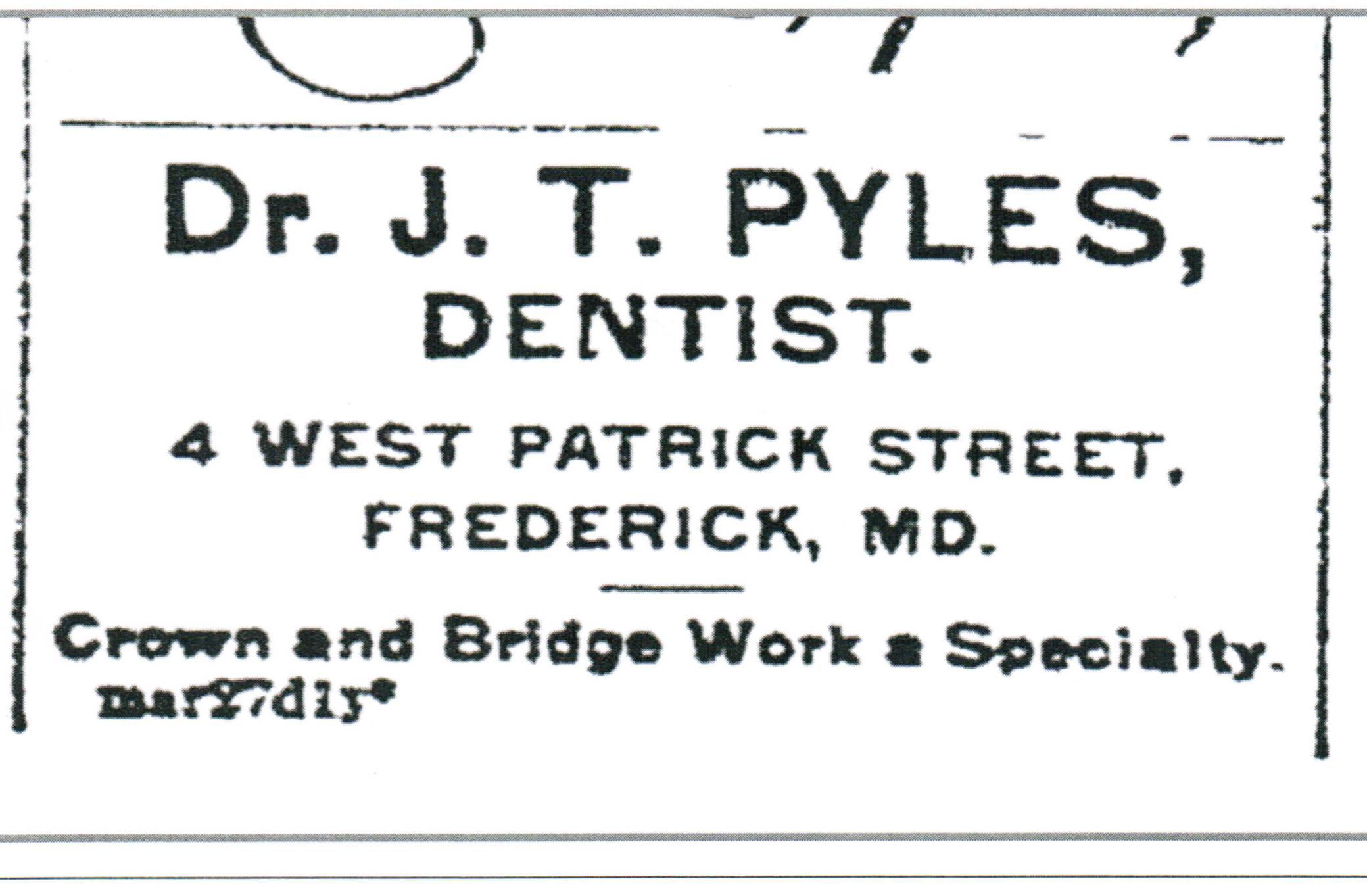 52 Ancestors Week 45 – Joseph Pyles: beloved dentist and more