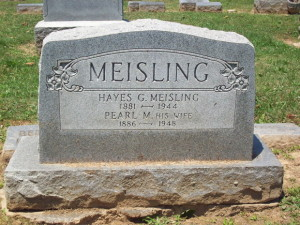 MEISLING Hayes and LAMBRIGHT Pearl headstone