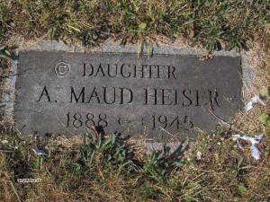 A. Maud Heiser Tombstonejpg