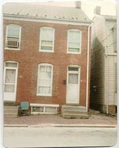 321 N. Bentz Street in Frederick, MD. House where Charlie raised by grandparents, pic taken in 1984