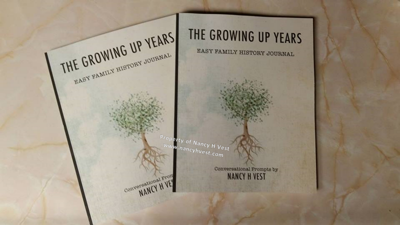 Photo cover of journal https://www.amazon.com/Growing-Up-Years-History-Journal/dp/0996751807/ref=sr_1_1?ie=UTF8&qid=1510933964&sr=8-1&keywords=nancy+h+vest