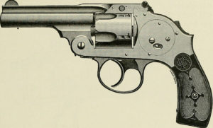 B&W photo of a revolver
