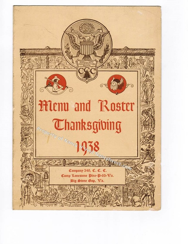 1938 CCC Camp Thanksgiving
