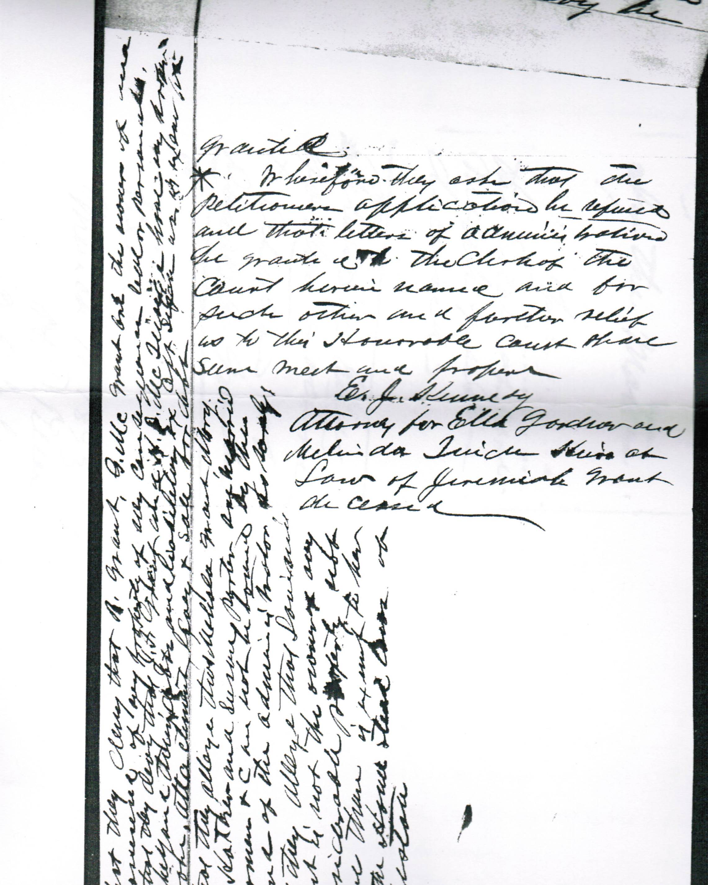 B&W partial scan of a page from an 1893 probate record in South Carolina