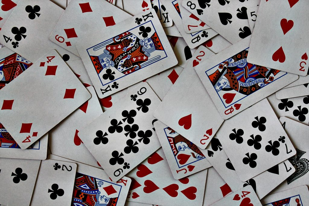 mishmash of standard playing cards